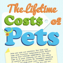 The Lifetime Costs of Pets Infographic