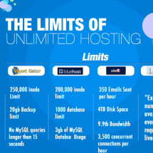 The Limits of Unlimited Web Hosting Infographic