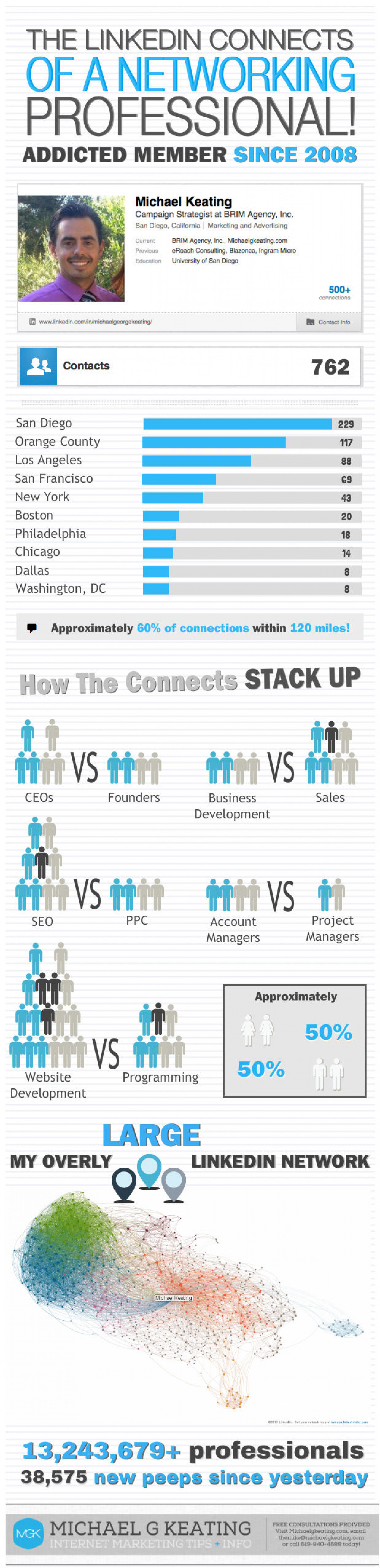 The Linkedin Profile of A Networking Addict  Infographic