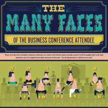 The Many Faces of the Business Conference Attendee  Infographic