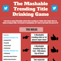 The Mashable Trending Title Drinking Game Infographic
