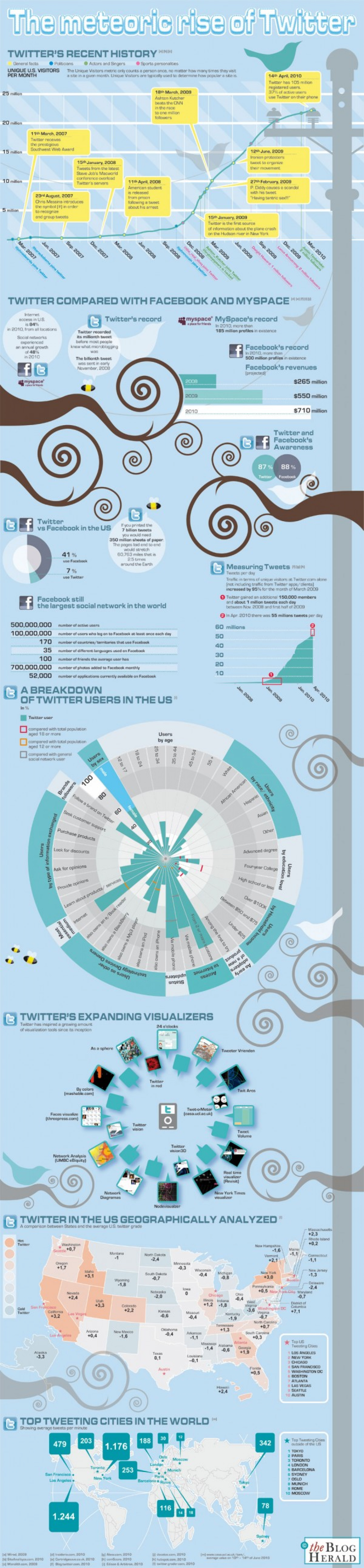 The Meteoric Rise of Twitter  Infographic