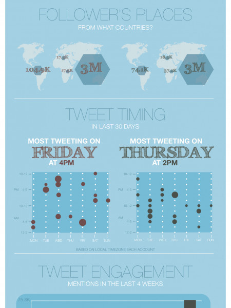 The Most Active Twitter acc in Indonesia Infographic