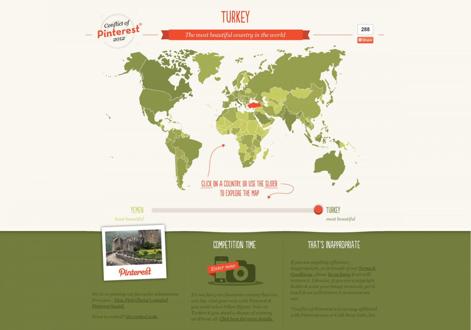 The Most Beautiful Country in the World Infographic
