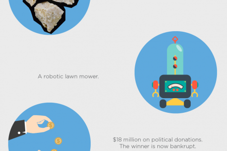 The Most Outrageous Lottery Purchases Infographic