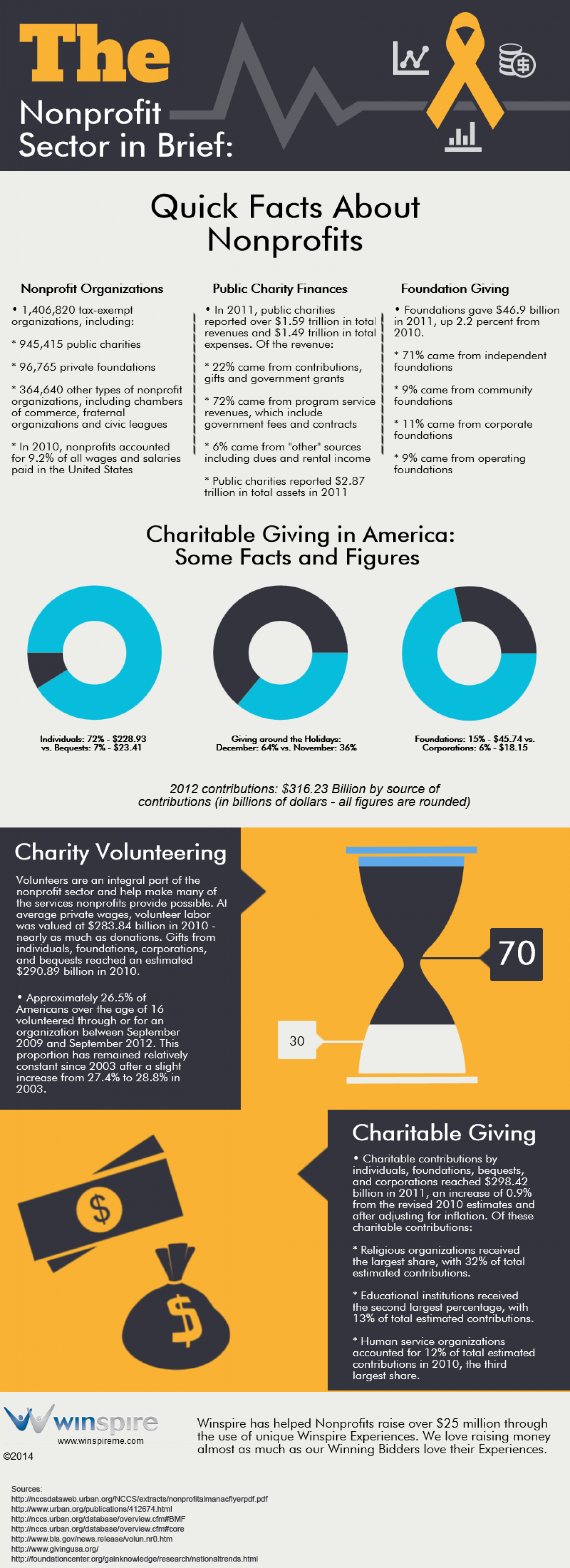 The Nonprofit Sector in Brief Infographic