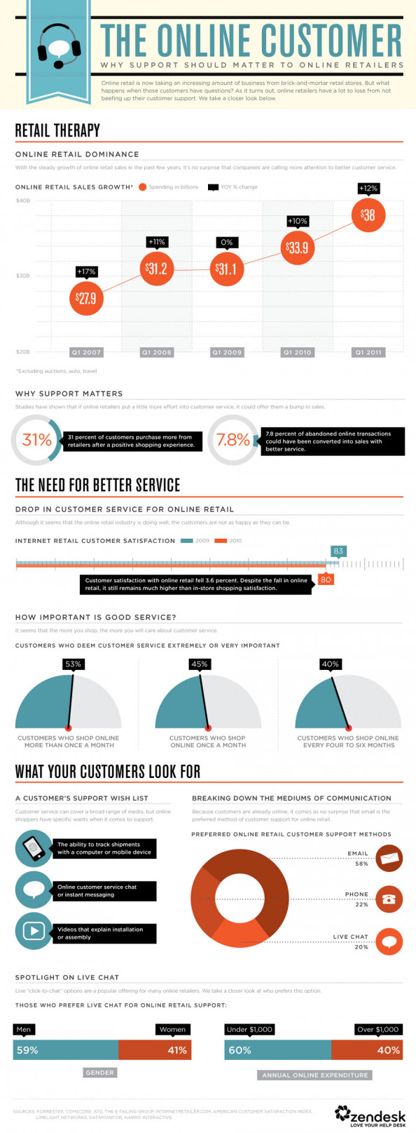 The Online Customer Infographic