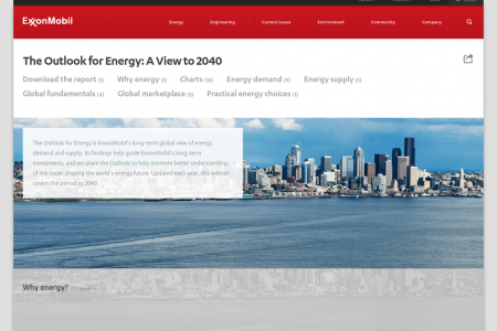 The Outlook for Energy Infographic