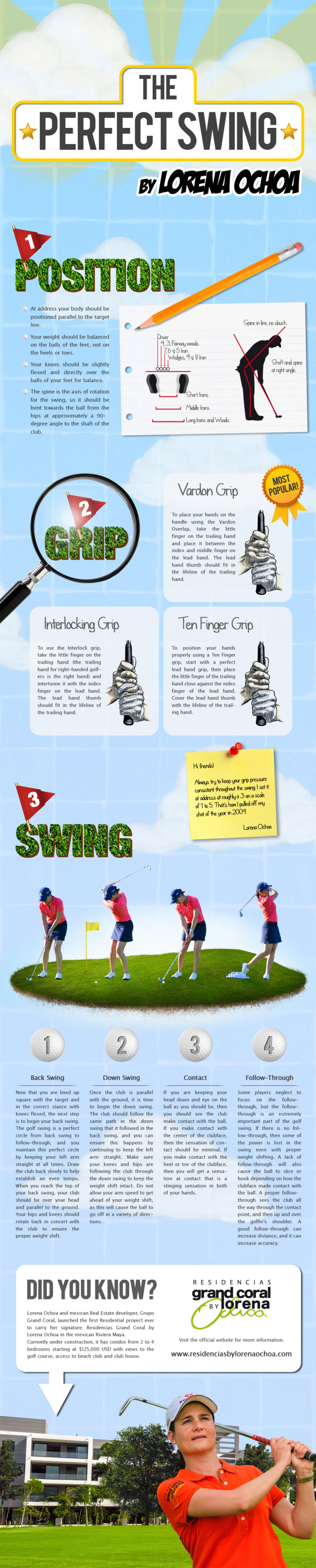 The Perfect Swing by Lorena Ochoa Infographic