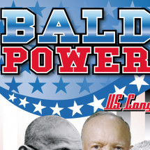 The power of baldness Infographic
