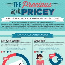 The Precious and the Pricey: What Items People Value and Cherish in their Homes Infographic