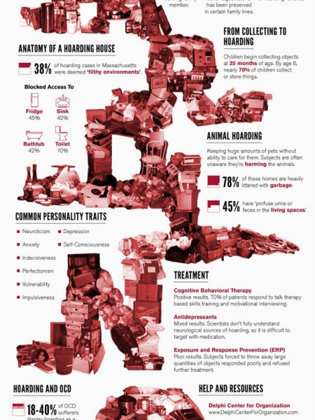 The Psychology of Hoarding  Infographic