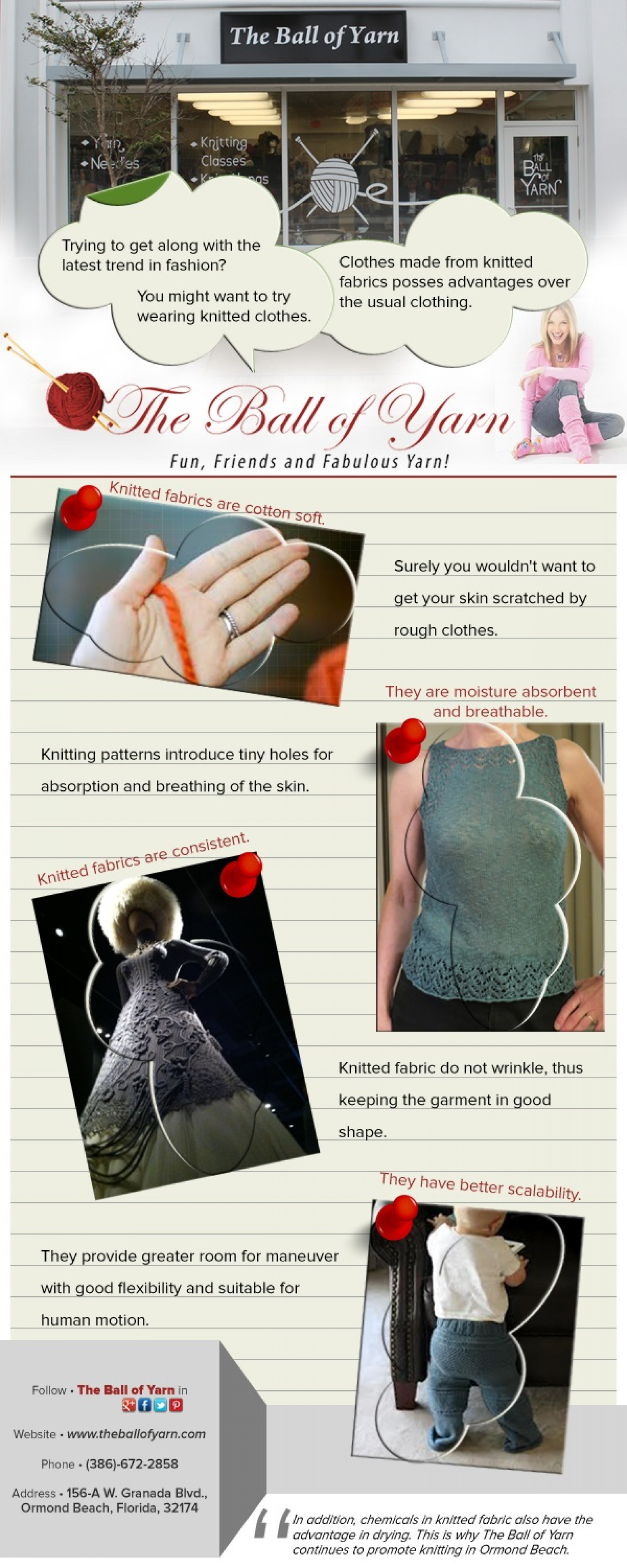 The Qualities of Knitted Fabrics Infographic