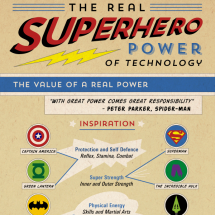 The Real Superhero Power of Technology Infographic Infographic