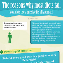 The reasons why most diets fail Infographic