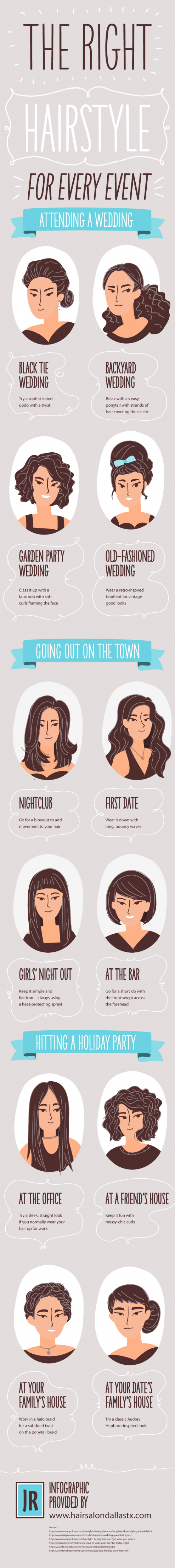 The Right Hairstyle for Every Event