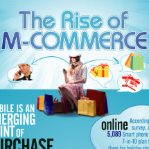 The Rise of M-Commerce Infographic