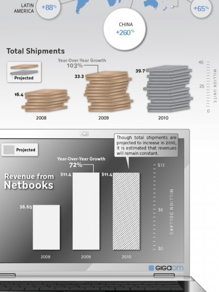 The Rise of Netbooks Infographic