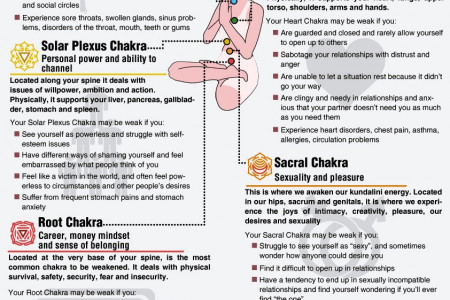 The Seven Chakras Of The Human Body Infographic
