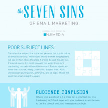 The Seven Sins of Email Marketing Infographic