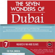The seven wonders of Dubai Infographic