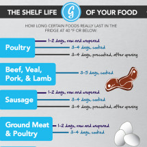 The Shelf Life of Your Food Infographic