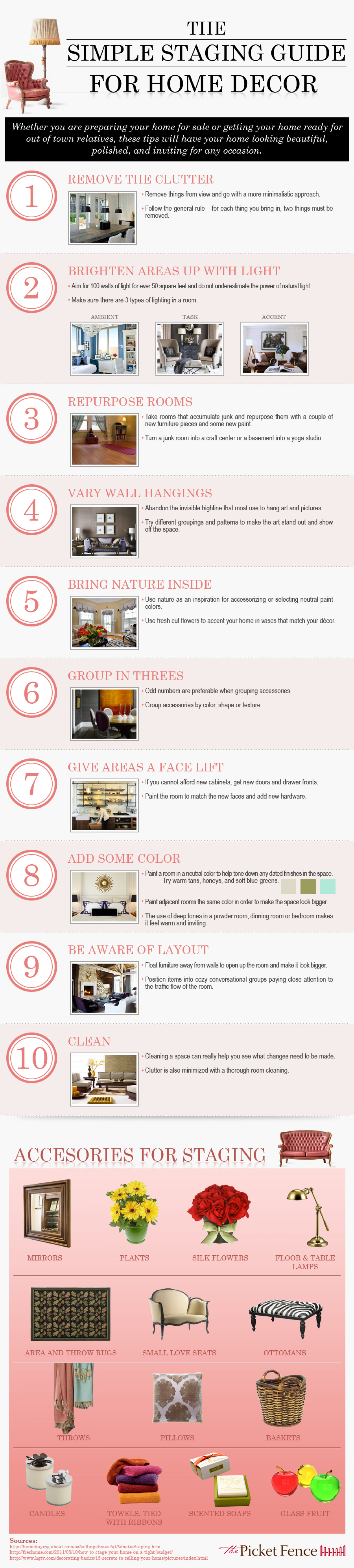 The Simple Staging Guide for Home Decor Infographic