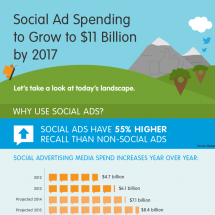 The Social Advertising Landscape Infographic