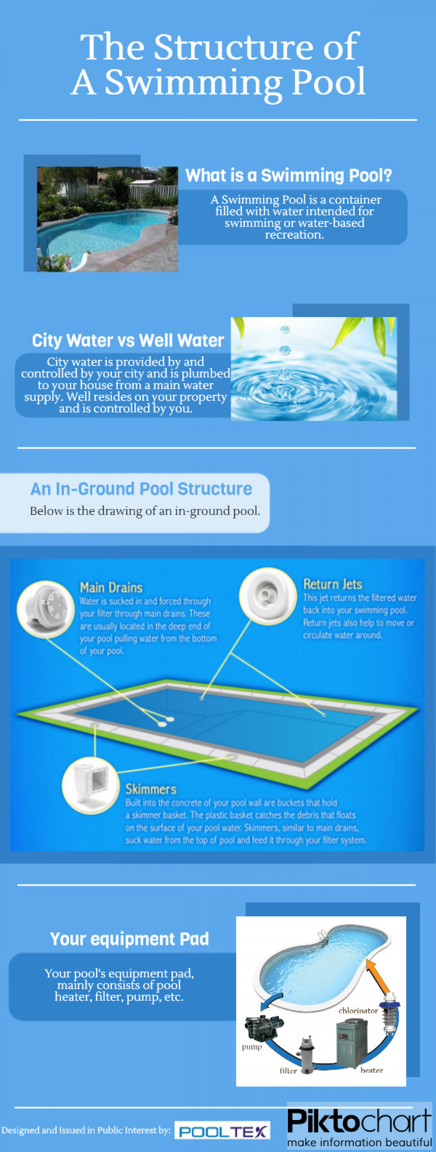The Structure of A Swimming Pool Infographic