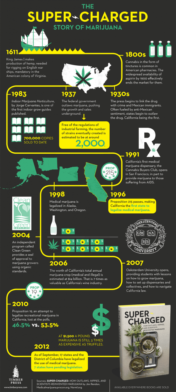 The Super-Charged Story of Marijuana Infographic
