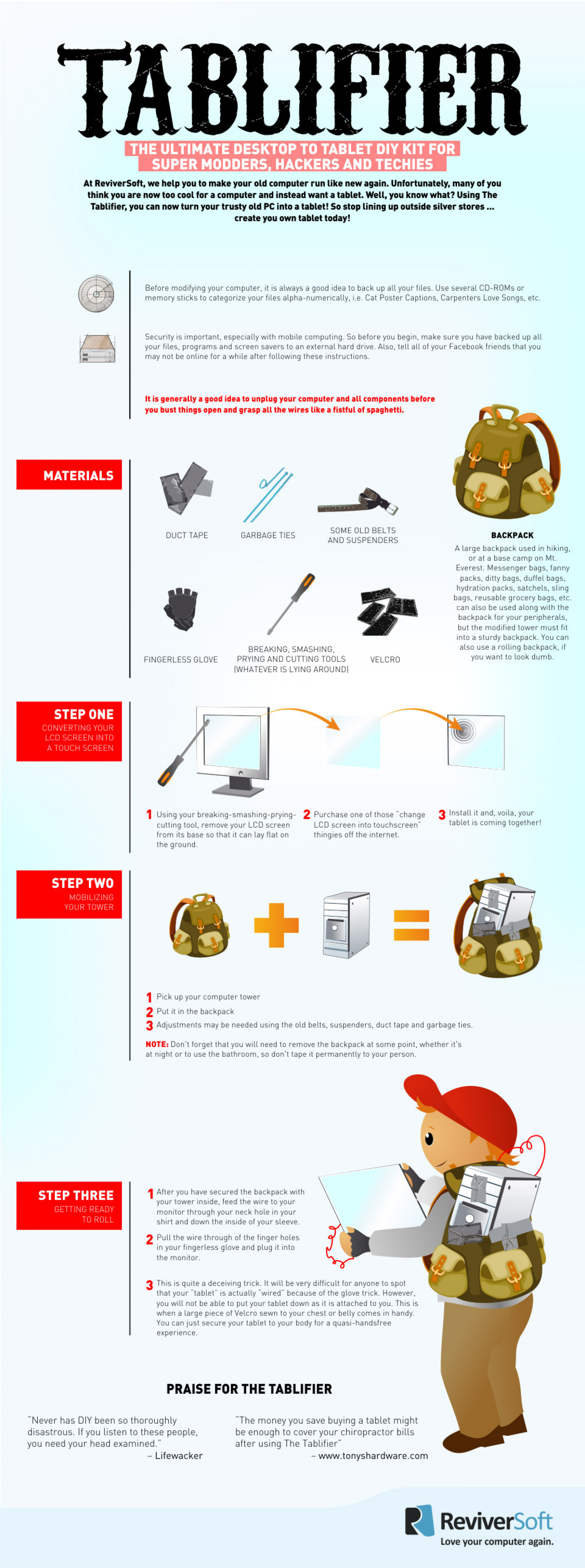 The Tablifier: Turn Your Old PC Into A Tablet Infographic