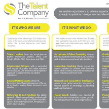The Talent Company Infographic