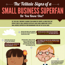 The Telltale Signs of a Small Business Superfan Infographic