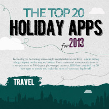 The Top 20 Holiday Apps for 2013 Infographic
