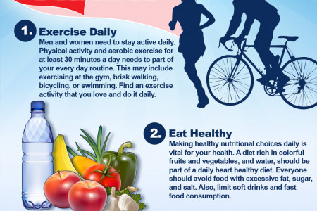 The Top 3 Tips for Preventing Heart Disease in Adults Infographic