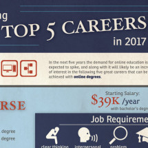 The Top 5 Careers in 2017 Infographic