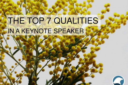 The Top 7 Qualities in a Keynote Speaker Infographic