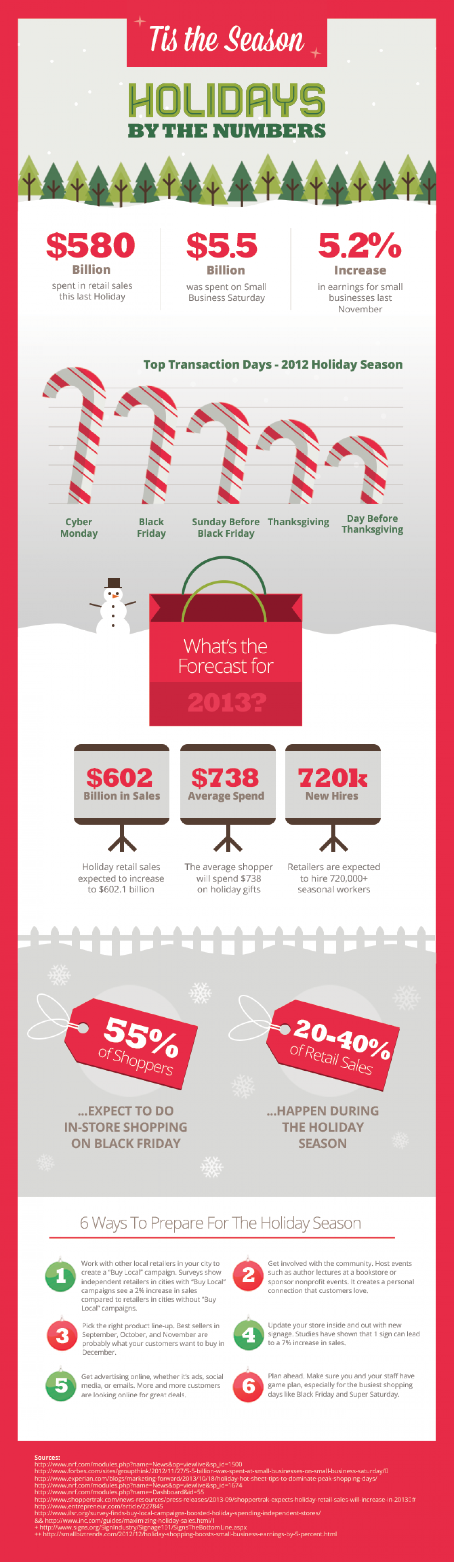 The Truth about Holiday Sales Infographic