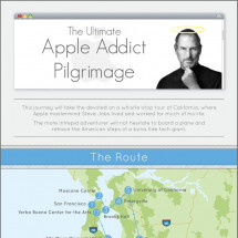 The ultimate Apple addict pilgrimage  Infographic