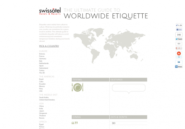 The Ultimate Guide to Worldwide Etiquette Infographic