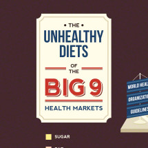 The Unhealthy Diets of the BIG 9 Health Markets Infographic
