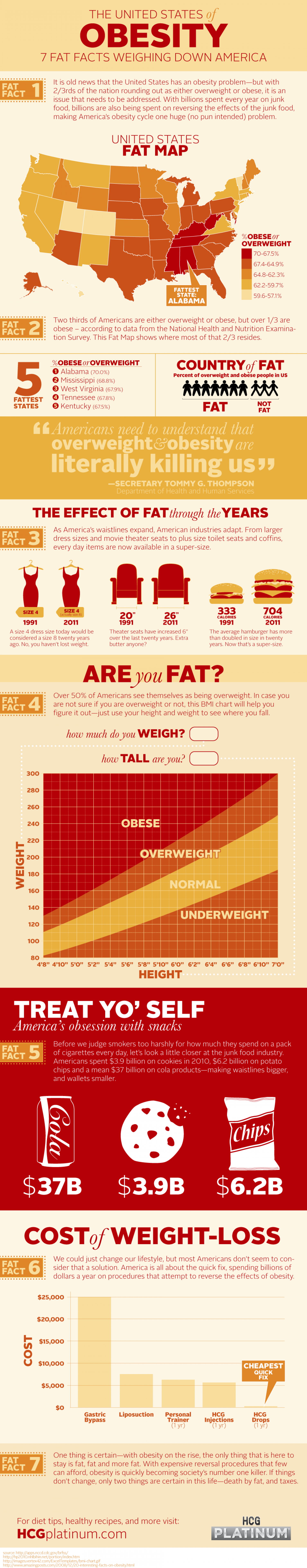The United States of Obesity Infographic
