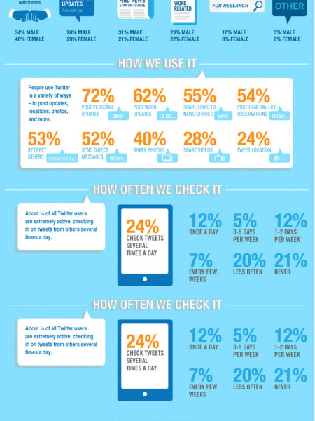 The Who, Why and How of Twitter Infographic