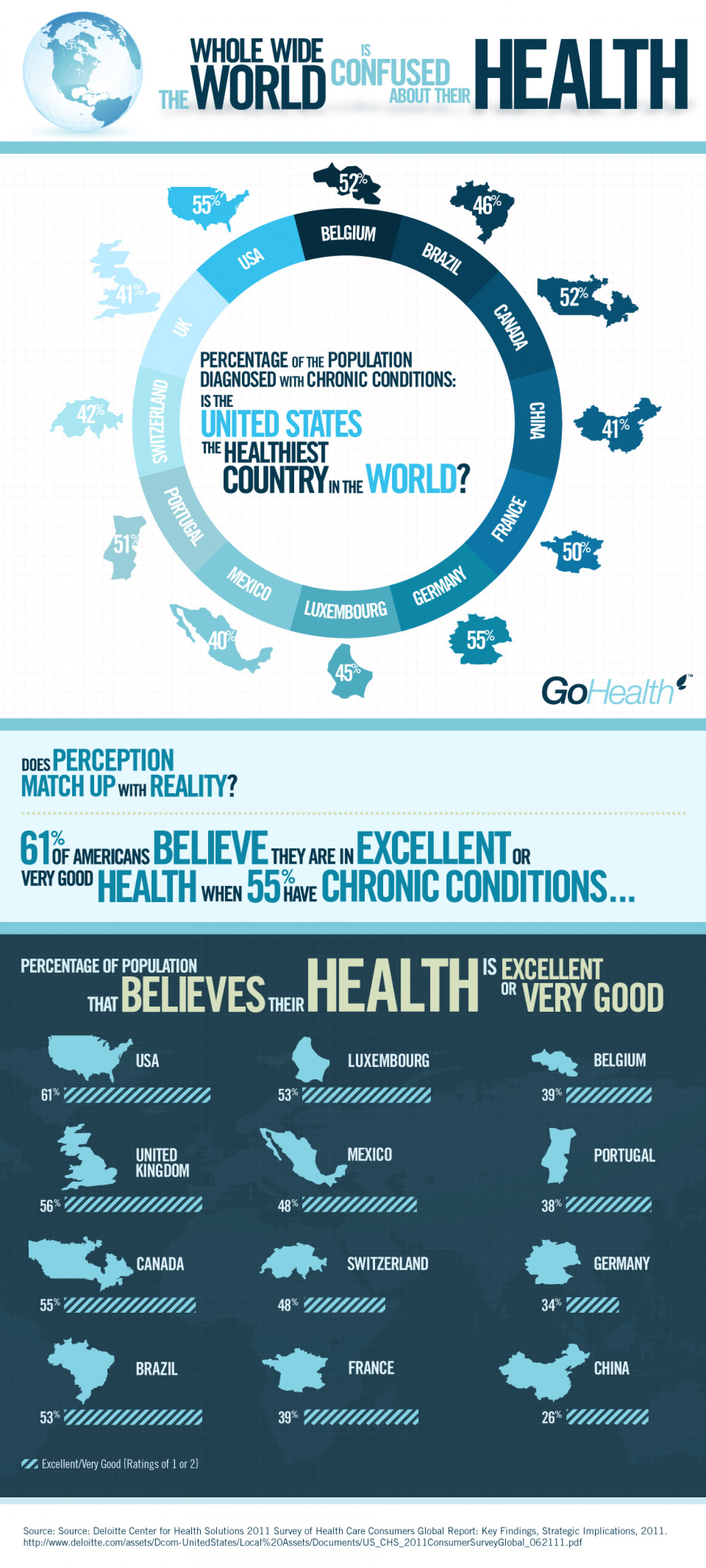 The Whole Wide World is Confused about their Health Infographic