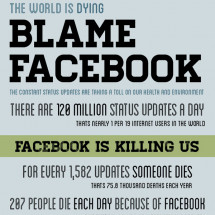 THE WORLD IS DYING....BLAME FACEBOOK! Infographic