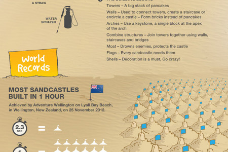 The World of Sandcastles and Sand Sculptures Infographic