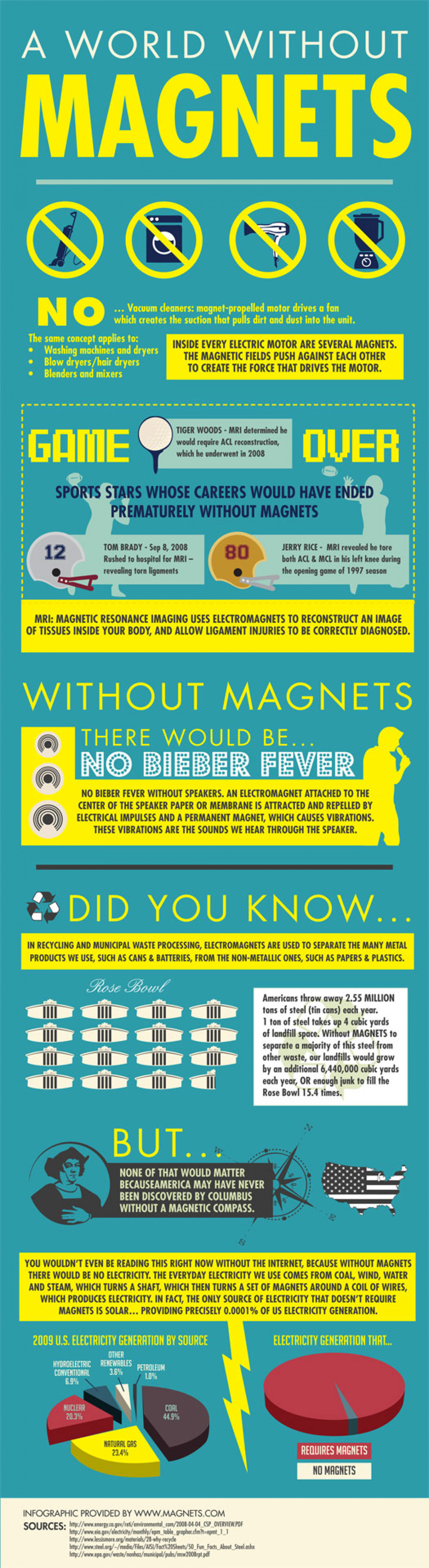 The World Without Magnets Infographic