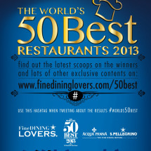 The World's 50 Best Restaurants Awards 2013 Infographic