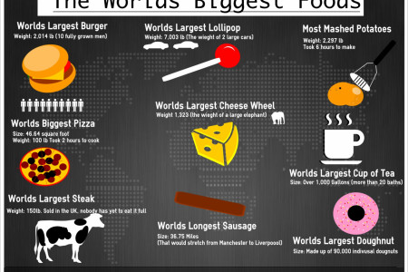 The worlds biggest foods Infographic