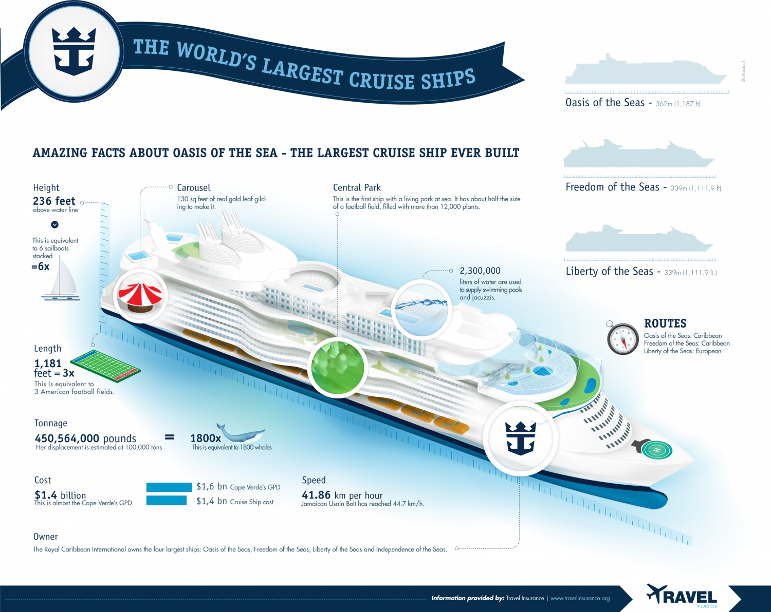 The World's Largest Cruise Ships Infographic